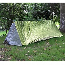 Палатка термосберегающая туба AceCamp Reflective Tube Tent - Green
